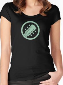 Guitar player green Women's Fitted Scoop T-Shirt