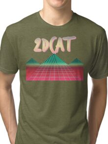 2DCAT - Faded Regressions Tri-blend T-Shirt