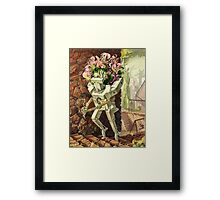 Wooden Robot Framed Print