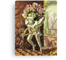 Wooden Robot Canvas Print