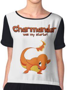 Charmander was my starter! Chiffon Top