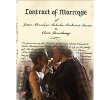 Wedding contract/Jamie & Claire Photographic Print