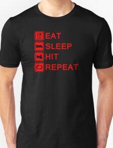 Drummer Eat Sleep Hit Repeat Unisex T-Shirt