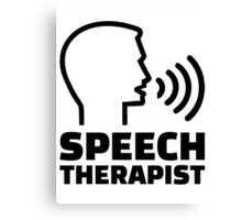 Speech therapist Canvas Print