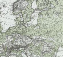 Vintage Map of Europe (1862) Sticker