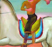 Gaucho a caballo 8 por Diego Manuel Sticker