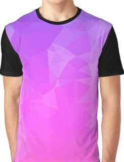 Blue Pink Ombre Polygon Graphic T-Shirt