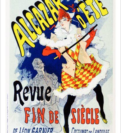 Vintage Jules Cheret 1886 Alcazar Déte Sticker