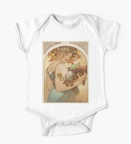 Vintage poster - Woman with fruit One Piece - Short Sleeve