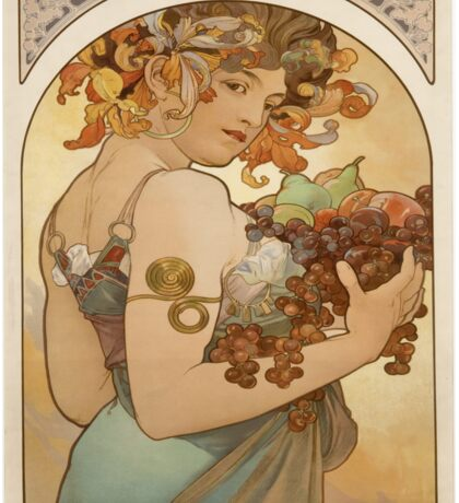 Vintage poster - Woman with fruit Sticker