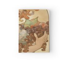 Vintage poster - Woman with fruit Hardcover Journal