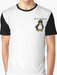 Deal With It Penguin Graphic T-Shirt