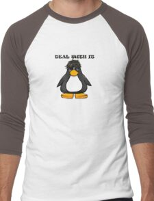 Deal With It Penguin Men's Baseball ¾ T-Shirt