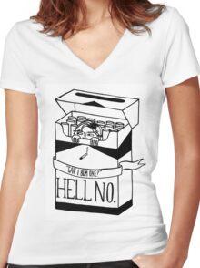 Cigarette Girl Women's Fitted V-Neck T-Shirt