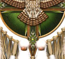 Barred Owl Native American Mandala Sticker