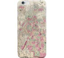 Vintage Map of Europe (1864) iPhone Case/Skin