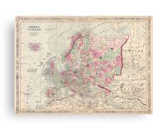 Vintage Map of Europe (1864) Canvas Print