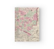 Vintage Map of Europe (1864) Hardcover Journal