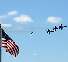 Red White and Blue Angels by Steve Mezardjian