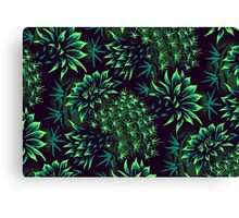 Cactus Floral - Green Canvas Print