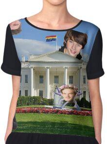 Youtuber white house mashup Chiffon Top