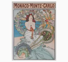 Vintage poster - Monte Carlo One Piece - Short Sleeve