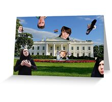 Youtuber white house mashup Greeting Card