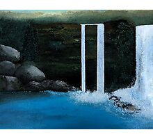 Waterfall in a Wood Photographic Print
