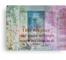 Shakespeare humorous whimsical  quote whimsical  Metal Print