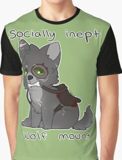Socially Inept Wolf Mount Graphic T-Shirt