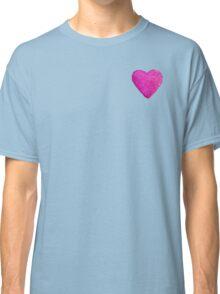 Watercolor Pink Heart Classic T-Shirt