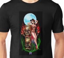 Tiki Moon (original painting) Unisex T-Shirt