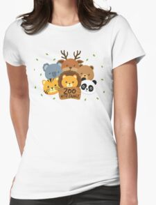 Go To Zoo with Family Womens Fitted T-Shirt