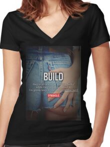 BUILD Women's Fitted V-Neck T-Shirt