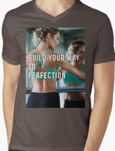 Build Your Way To Perfection Mens V-Neck T-Shirt