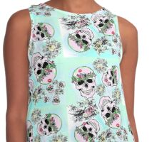 Pretty tough skulls Contrast Tank