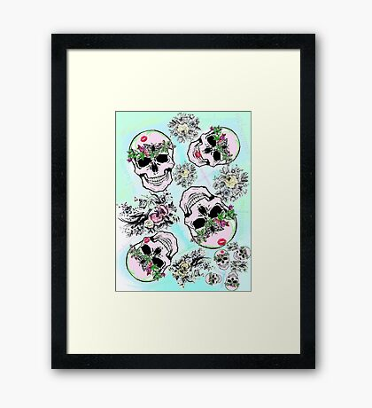 Pretty tough skulls Framed Print