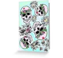 Pretty tough skulls Greeting Card