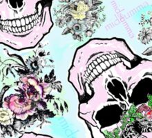 Pretty & tough, skulls & flowers Sticker