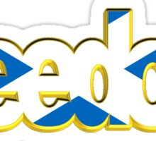 Scottish Freedom Text Sticker