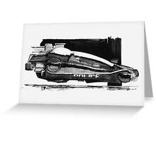 Blade Runner Police Spinner Art Greeting Card