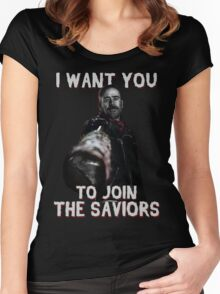 Join The Saviors Women's Fitted Scoop T-Shirt