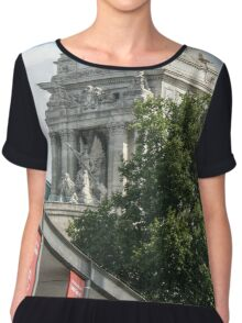 Port of London Authority behind Tower Ticket Sales Chiffon Top
