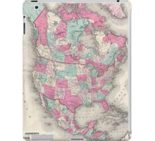 Vintage Map of North America (1864) iPad Case/Skin