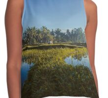 Sunrise over rice fields in Ubud, Bali Contrast Tank