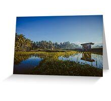 Sunrise over rice fields in Ubud, Bali Greeting Card