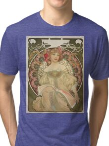 Vintage poster - Woman with flowers Tri-blend T-Shirt