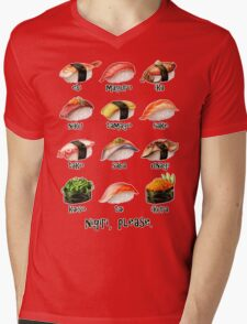 Nigiri, Please - The Sushi Menu You Can Wear! Mens V-Neck T-Shirt