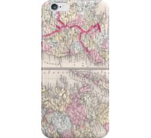 Vintage Map of Ireland and Scotland (1864) iPhone Case/Skin