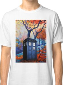 Tardis Autumn Alley Classic T-Shirt